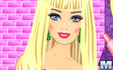 Juego de maquillar en un salón a Barbie