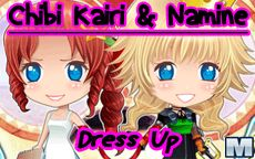 Chibi Kairi & Namine Dress Up