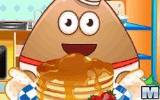 Pou Cooking Pancakes