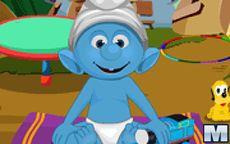 Smurfs Baby Bathing