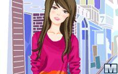 Girl In Lane Dress Up