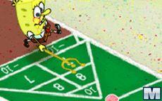 Bob esponja jugando pasatiempos